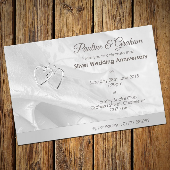 Silver Wedding Invitation Cards