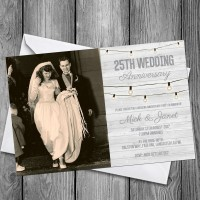 25th Wedding Invitations & Envelopes - Design No 10