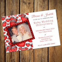 40th Wedding Invitations & Envelopes - Design No 2