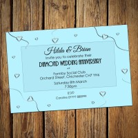 60th Wedding Invitations & Envelopes - Design No 5