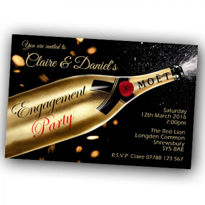 Engagement Party Invitations & Envelopes - Moet