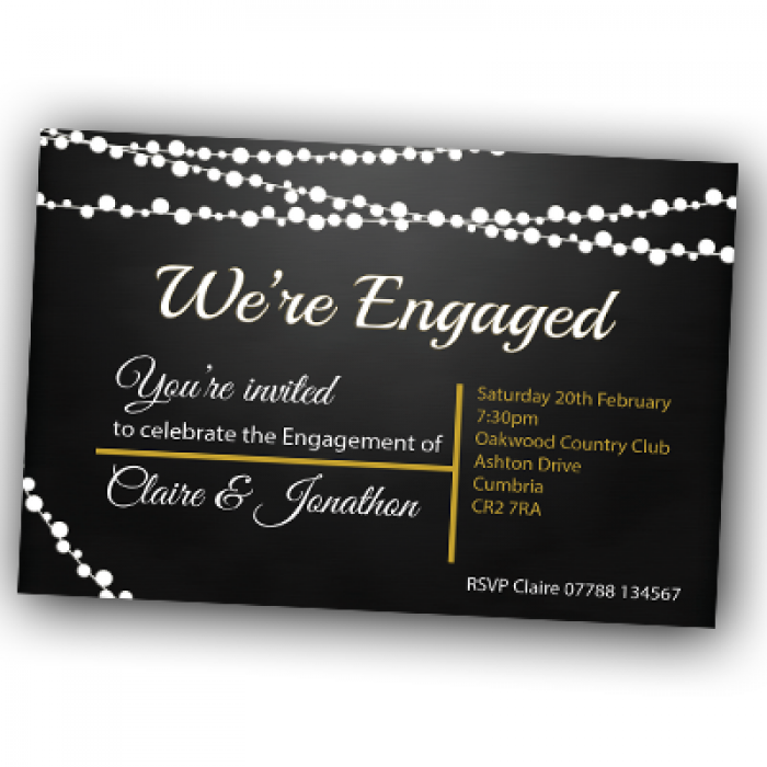 Engagement Party Invitations & Envelopes - Were engaged.