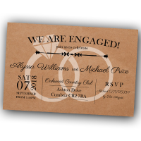 Engagement Party Invitations & Envelopes - Engaged Rings