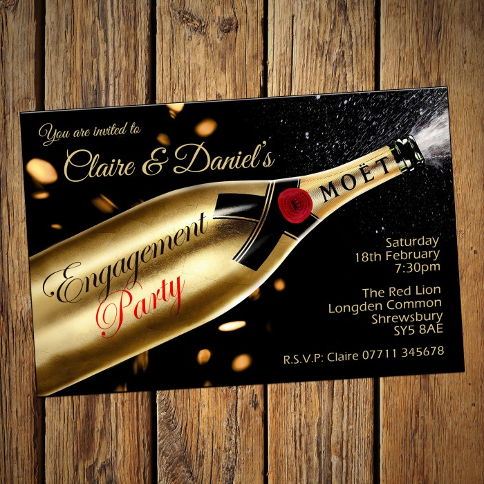 Engagement Party Invitations & Envelopes - Moet