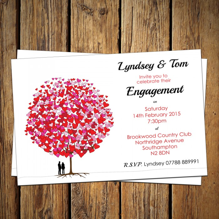 Engagement Party Invitations & Envelopes - Love Tree