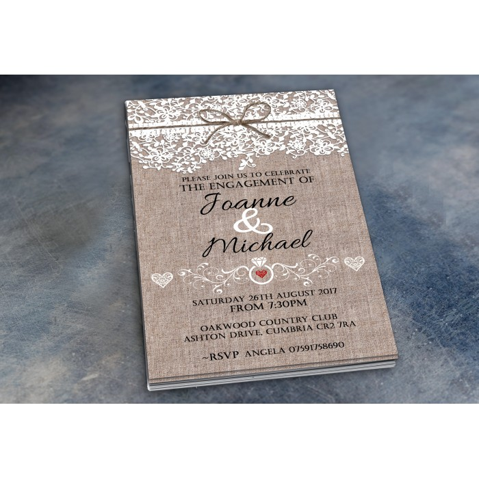 Engagement Party Invitations & Envelopes - Lace