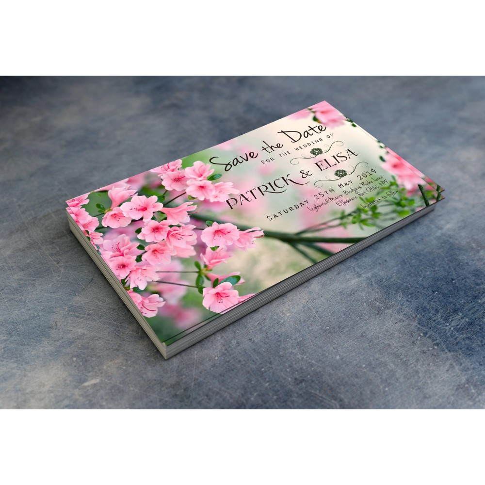 Wedding Save the Date & Envelopes - Spring theme