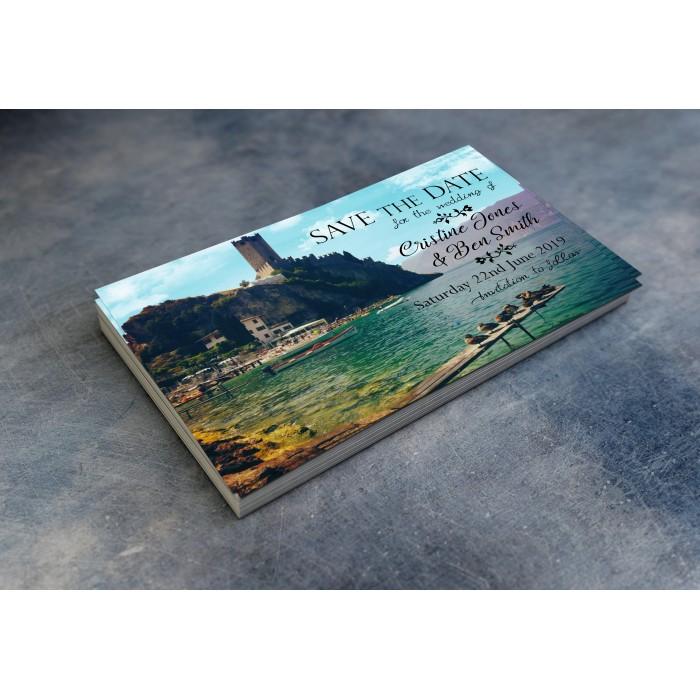 Wedding Save the Date & Envelopes - Summer Castle