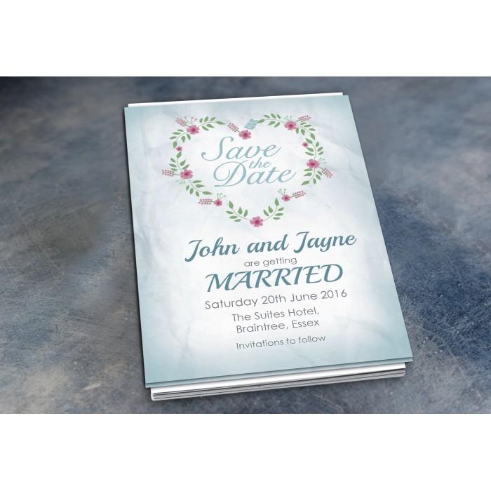 Wedding Save the Date & Envelopes - Design No 18