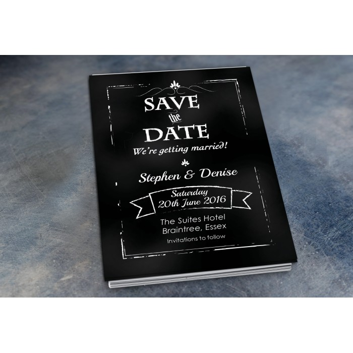 Wedding Save the Date & Envelopes - Design No 21