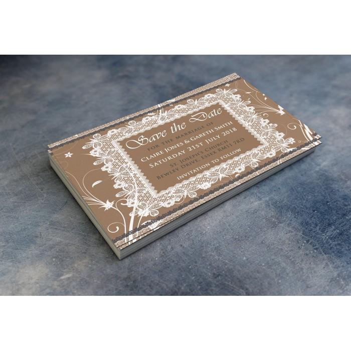 Wedding Save the Date & Envelopes - Design No 25