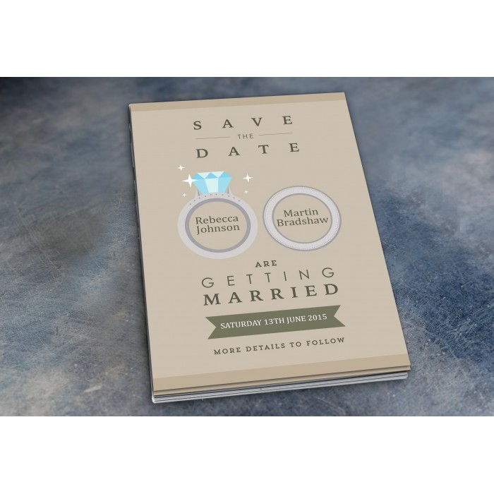 Wedding Save the Date & Envelopes - Design No 5