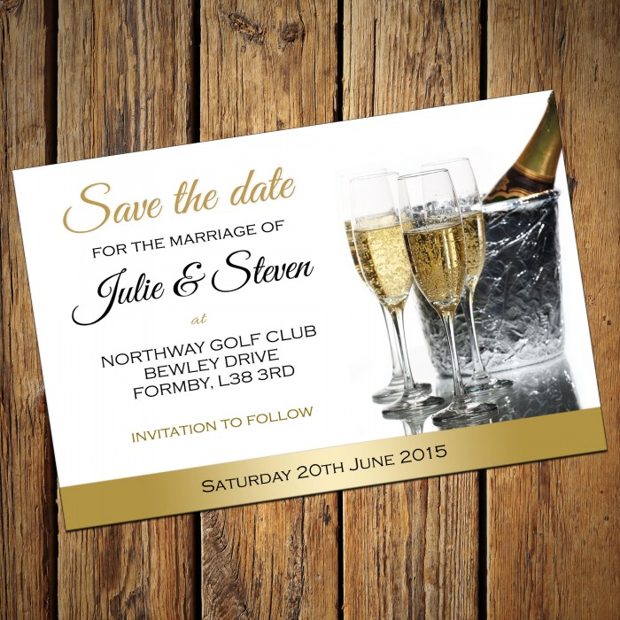 Wedding Save the Date & Envelopes - Design No 10
