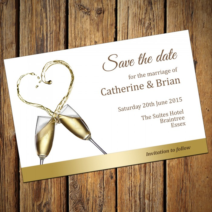 Wedding Save the Date & Envelopes - Design No 12