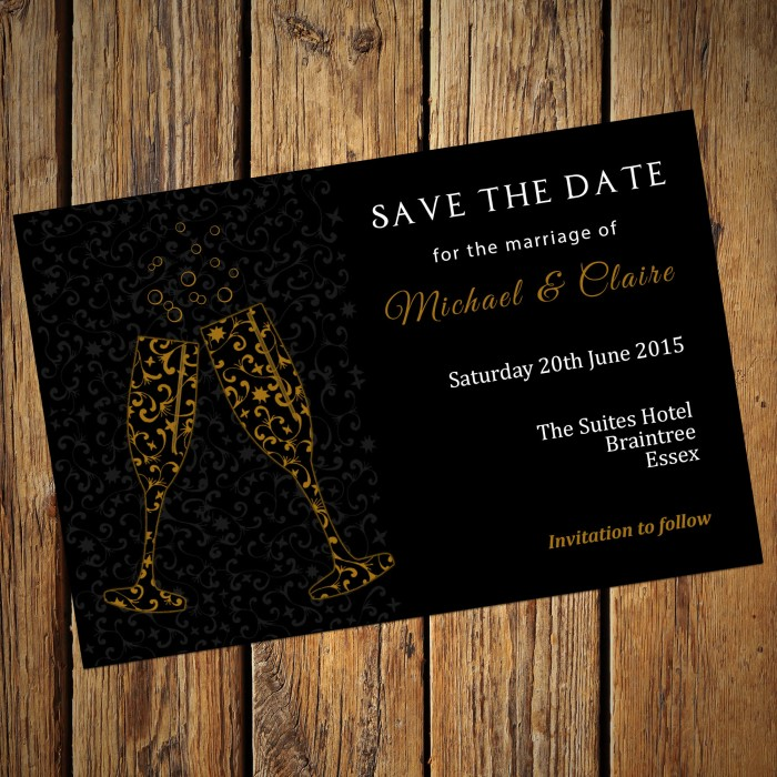 Wedding Save the Date & Envelopes - Design No 13