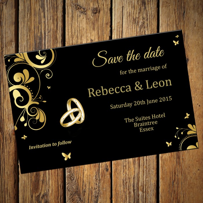 Wedding Save the Date & Envelopes - Design No 14