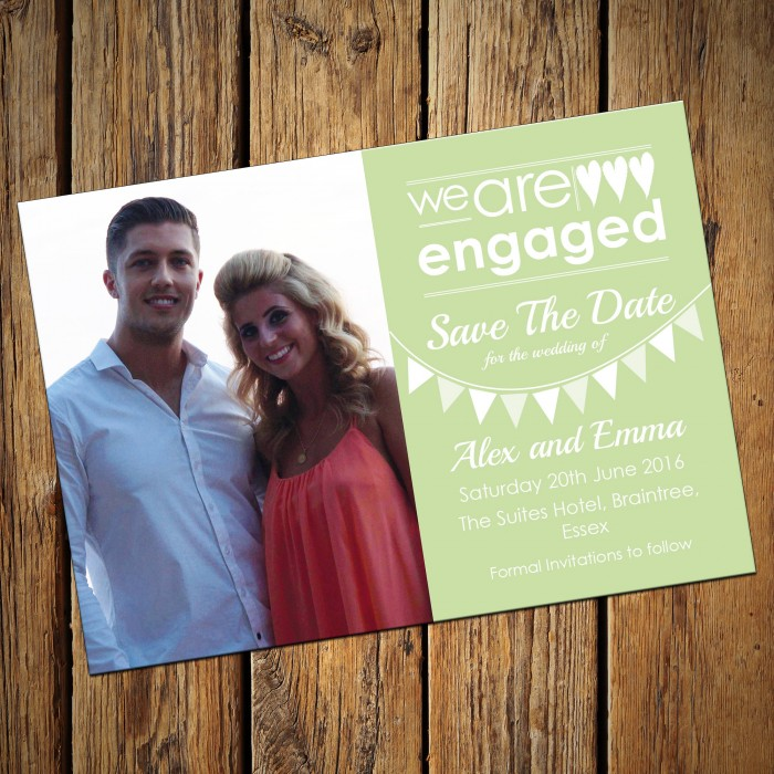Wedding Save the Date & Envelopes - Design No 15