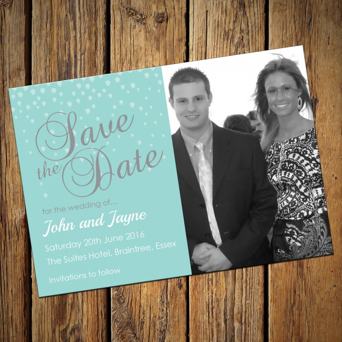 Wedding Save the Date & Envelopes - Design No 16