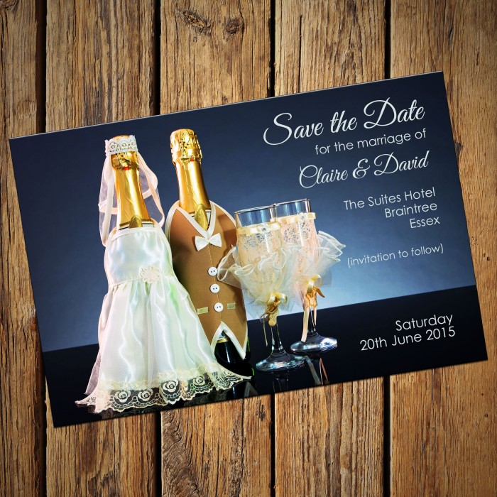 Wedding Save the Date & Envelopes - Design No 2