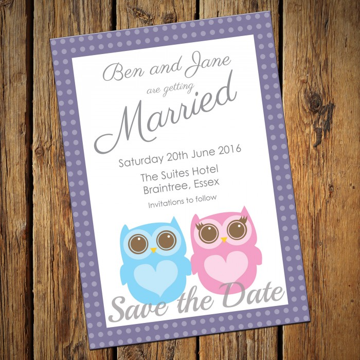 Wedding Save the Date & Envelopes - Design No 22