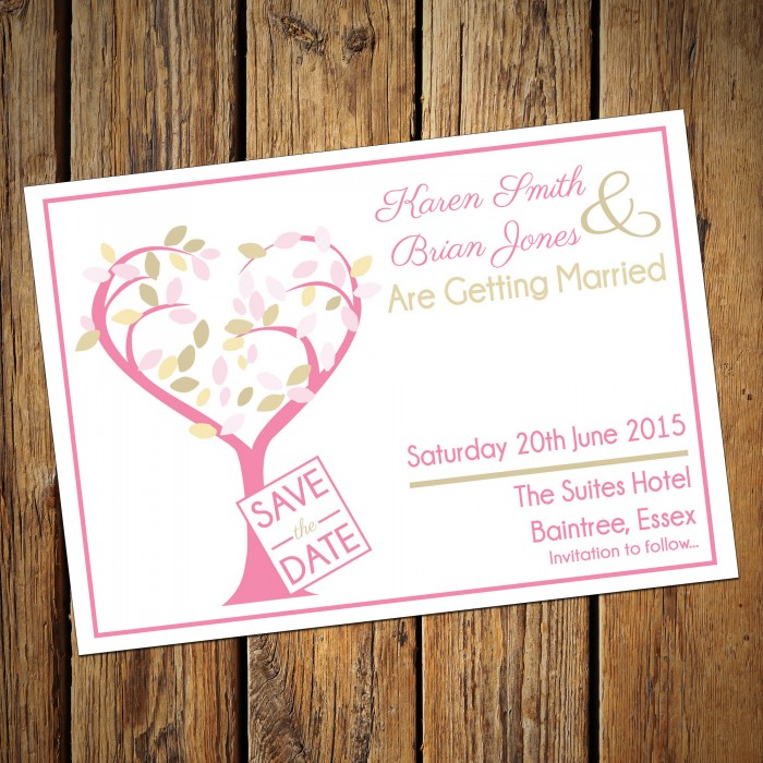Wedding Save the Date & Envelopes - Design No 23