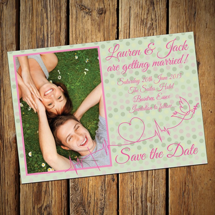 Wedding Save the Date & Envelopes - Design No 24