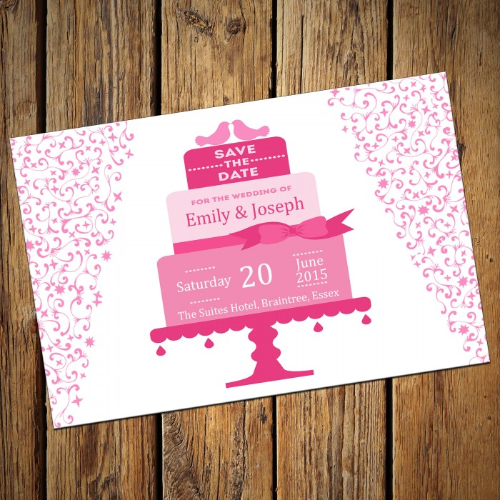 Wedding Save the Date & Envelopes - Design No 4