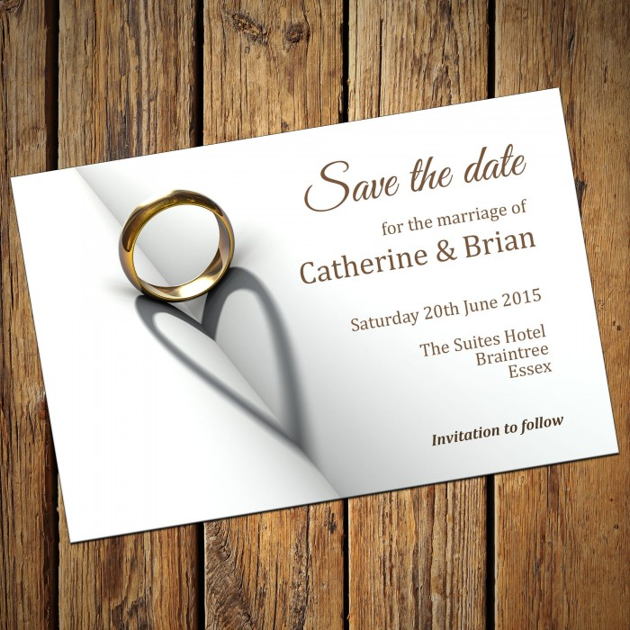 Wedding Save the Date & Envelopes - Design No 7