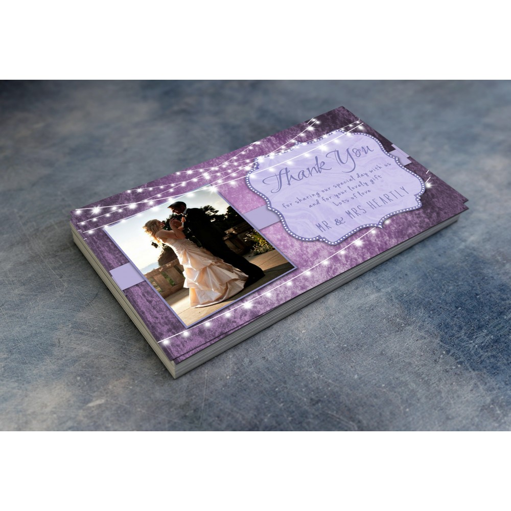Wedding Thank You Cards & Envelopes - Lavender