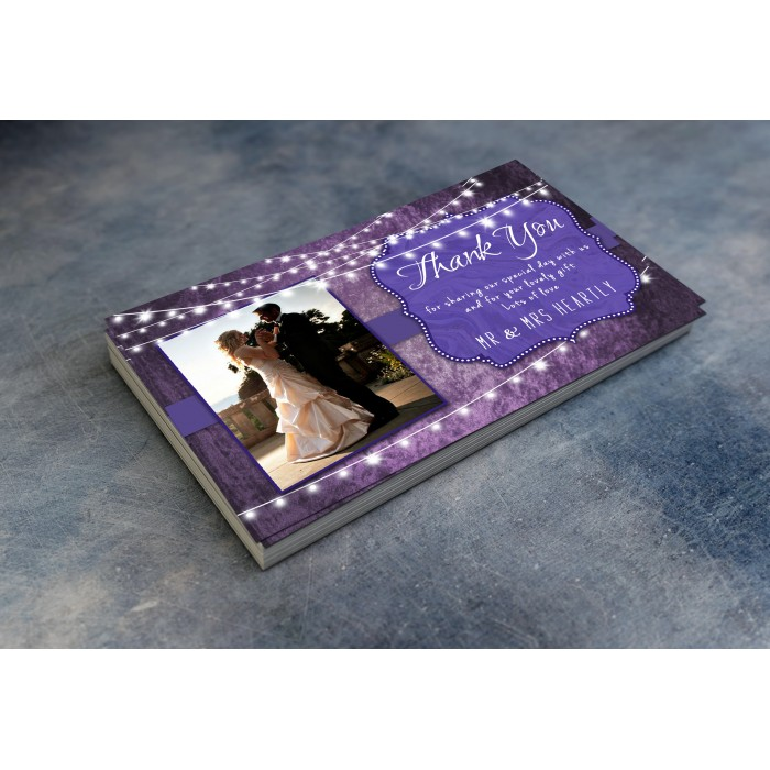 Wedding Thank You Cards & Envelopes - Ultra Voilet and Purple