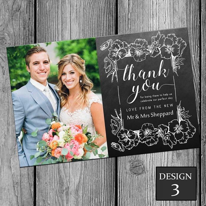 Wedding Thank You Cards & Envelopes - Design No 3