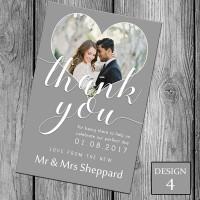 Wedding Thank You Cards & Envelopes - Design No 4