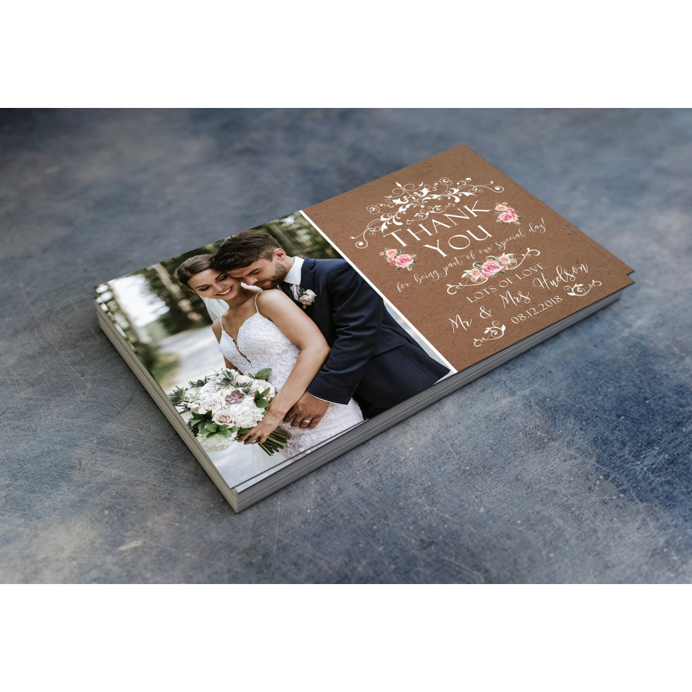 Wedding Thank You Cards & Envelopes - Design No 1