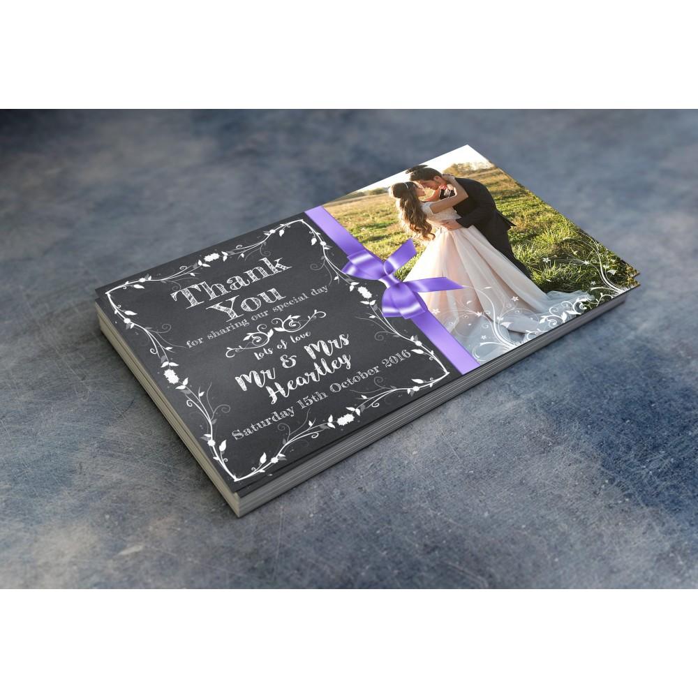 Wedding Thank You Cards & Envelopes - Design No 5
