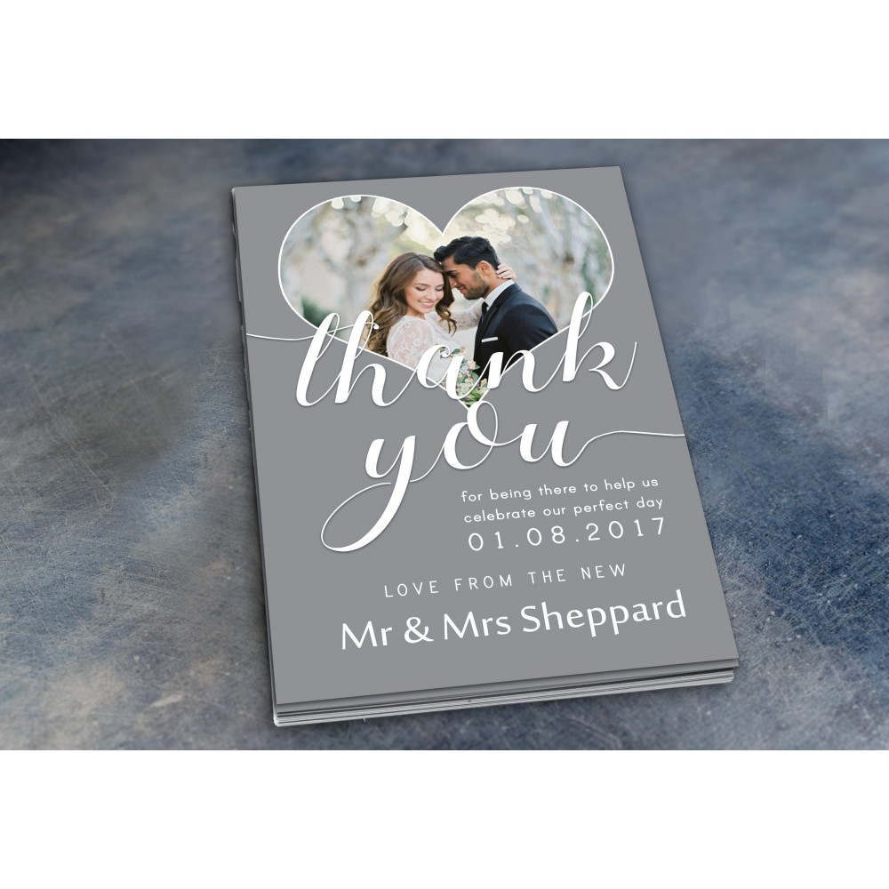 Wedding Thank You Cards & Envelopes - Design No 6