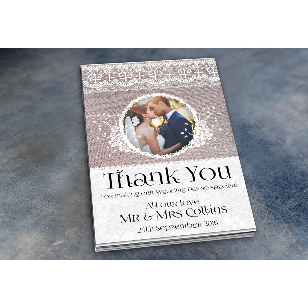 Wedding Thank You Cards & Envelopes - Design No 7