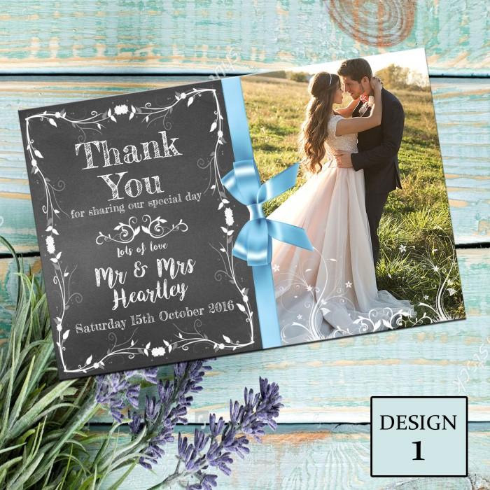 Wedding Thank You Cards & Envelopes - Design No 1