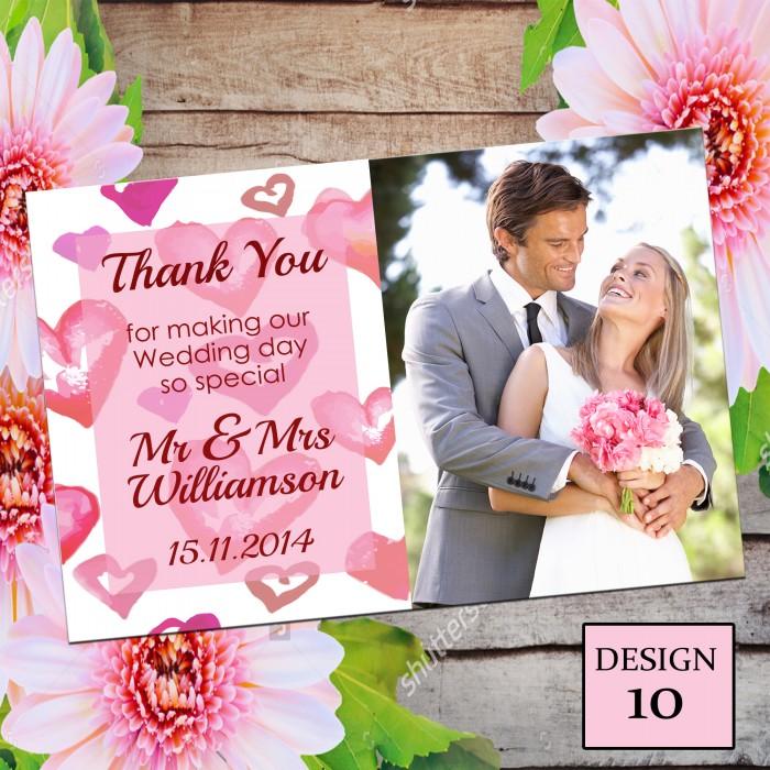 Wedding Thank You Cards & Envelopes - Design No 10
