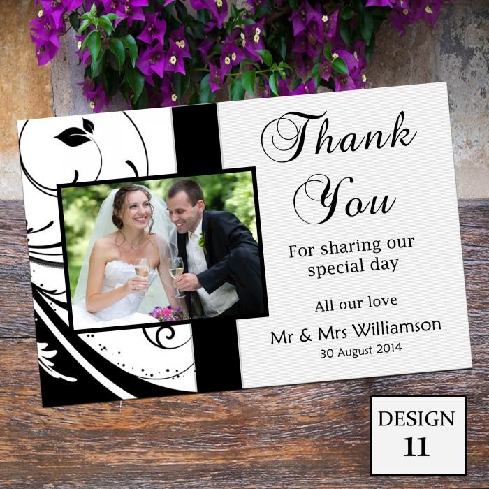 Wedding Thank You Cards & Envelopes - Design No 11