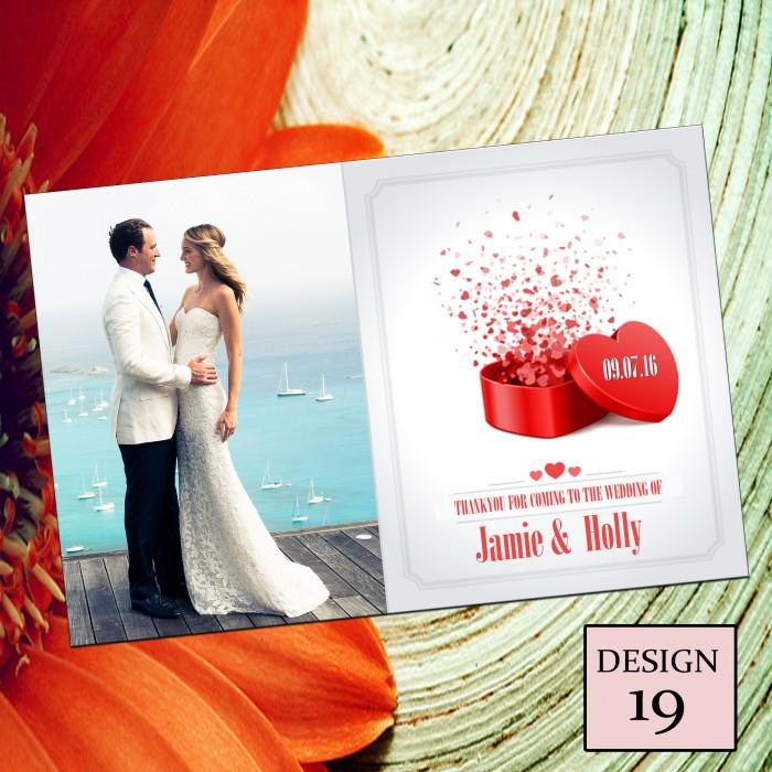 Wedding Thank You Cards & Envelopes - Design No 19