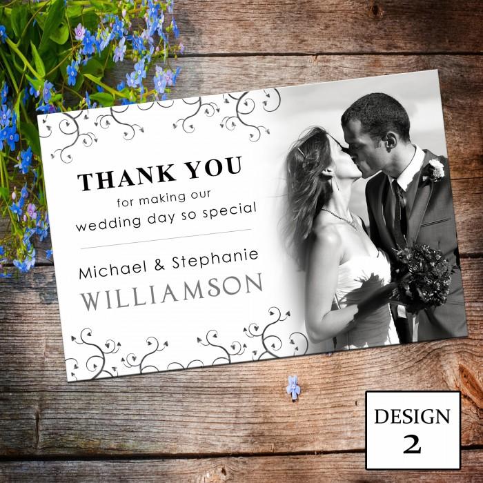 Wedding Thank You Cards & Envelopes - Design No 2