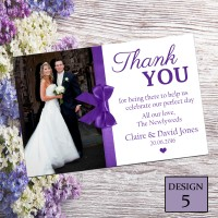 Wedding Thank You Cards & Envelopes - Design No 5
