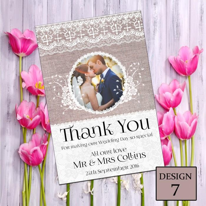 Wedding Thank You Cards & Envelopes - Design No 7